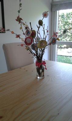 Vaso con fiori di carta- scrapbooking home decor