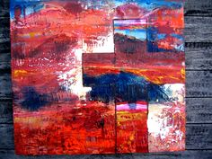 A series of 3 Title: 'Crosses we bear I' Mixed Meduim We Bear, Crosses, Greece, Museum, Paintings, Abstract, Artwork, Greece Country, Summary
