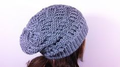 how to make a basket weave slouchy beanie with a round loom - YouTube