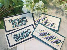 Paper Pieced Sentiments on Mini Slimline Cards