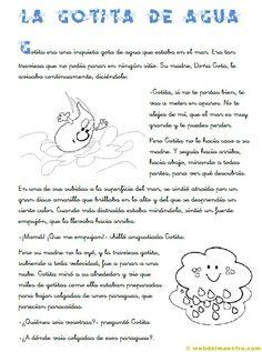 La gotita de agua (CE) ; haz clic para ver la 2a pagina.