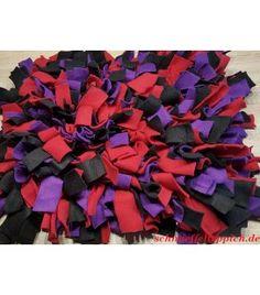 Schnüffelteppich lila/rot/schwarz