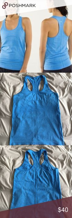 Lululemon Swifty Tech Tank Top Ocean blue, light weight tank in perfect condition lululemon athletica Tops Tank Tops