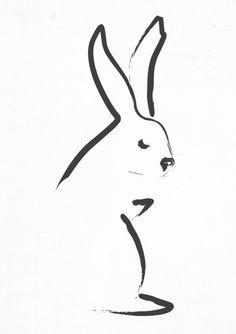 Zen Snow Bunny Art Print By Budi Satria Kwan
