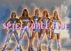 The Spice Girls! Best band ever! I love the Spice Girls when I was young! Spice Girls, Mtv, Cyberpunk, Nostalgia, Baby Spice, Retro Aesthetic, 90s Kids, Girl Gang, Girl Poses