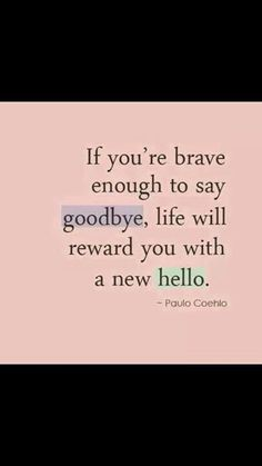 My new hello says hi to my goodbye...... Small world...