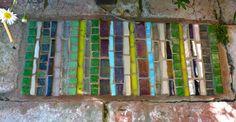 Mosaic brick for the garden.