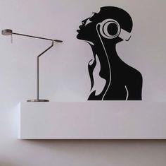 Radio Girl Wall Decal