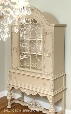 Annie Sloan Chalk Painted Painted China Cabinet - Salvaged Inspirations