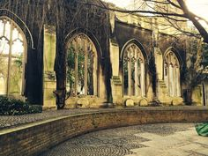 One of the few remaining casualties of the London Blitz, this destroyed church has become an enchanting public garden