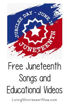 Lots of helpful free educational videos about the June 19 Juneteenth Freedom Day celebration along with some Juneteenth songs. Videos for a variety of ages - Living Montessori Now #antiracist #Juneteenth #freeeducationalvideos #Juneteenthvideos #BlackLivesMatter Circle Time Activities, Toddler Activities, Teaching Kids, Kids Learning, What Is Juneteenth, Maria Montessori Quotes, Student Cartoon, Positivity Blog, Free Characters