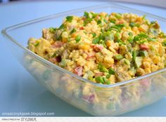 Smaczny kąsek: Sałatka curry Chicken Egg Salad, Kitchen Cheat Sheets, Polish Recipes, Bon Appetit, Fried Rice, Salad Recipes, Potato Salad, Food To Make, Curry