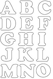 Resultado de imagen para as letras do alfabeto para imprimir