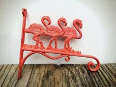 BOLD cast iron Flamingo bracket // plant hanger by HOUSEOFBOLD