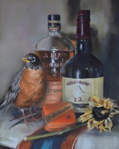 Redbreast by Debbie Hughbanks from AWA's 2017 spring online juried show. #womenartists #springonlineshow17
