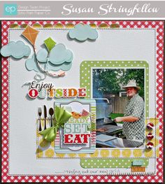 Ready, Set Eat Layout from Let's Picnic Mini Theme. #echoparkpaper