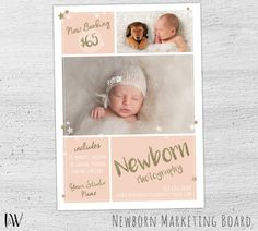 Baby Photography Mini Sessions Template, Newborn, Photoshop Template, Newborn Marketing, Photoshop Templates for Photographers - 02-003-MB-V