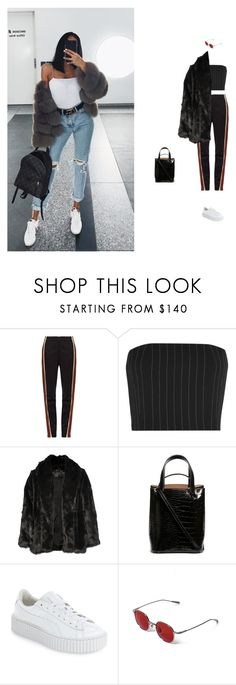 """breathe"" by artizam ❤ liked on Polyvore featuring Wales Bonner, Thierry Mugler, Alice + Olivia, Alaïa and Puma"
