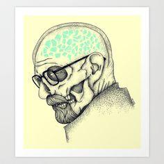 Heisenberg Art Print by Mike Koubou - $18.00