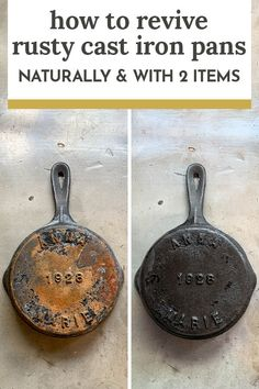 How To Remove Rust From Cast Iron Pans - Naturally and With Only Two Items — The Gold Hive