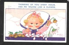 Girl comic postcard by Beatrice Mallet humor  by EDWARDIANTHYMES, $2.00