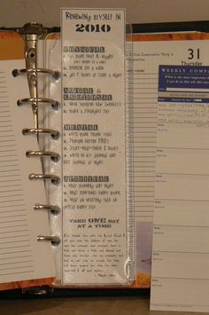 Great Idea...Laminate your resolutions
