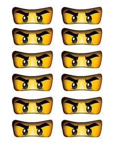 Lego Ninjago Eyes Label by UltimateParties on Etsy, $5.00
