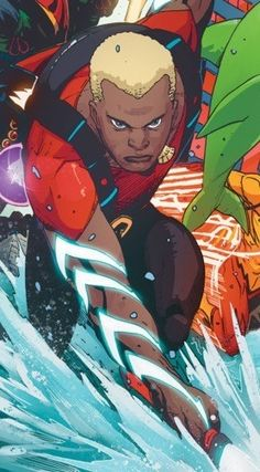 A list of the greatest black superheroes of the DC Universe. Comic Book Characters, Comic Character, Comic Books Art, Comic Art, Female Superheroes And Villains, Aquaman Dc Comics, Marvel And Dc Crossover, Diamond Comics, Dc Rebirth