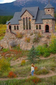 The Chapel on the Rock in St. Malo, Colorado, USA (by David Reed Watson).