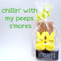 Peep s'more goody bags for Easter! (tutorial)