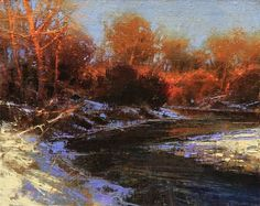Brent Cotton Paintings | Artist: Brent Cotton - Title: Morning on Willow Creek