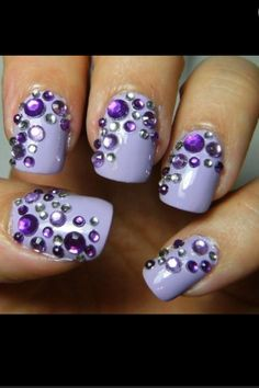 Light purple with some jewels