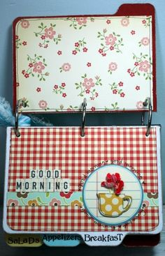 ~Home Cooking with Love~Recipe Card holder - Two Peas in a Bucket