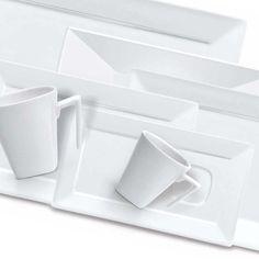 Aparelho de Jantar, Chá e Café Mail Order Plateau White c/ 42 Peças - Oxford