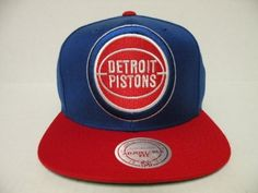 Mitchell and Ness NBA Detroit Pistons Logo 2 Tone Retro Snapback Cap by Mitchell & Ness. $28.99. Product Weight: 8 OZ. Please refer to SKU: MNCDEPI-2TSRORE when you contact us.. Guaranteed Authentic and Licensed by the league.. Item availability can change quickly as item becomes popular.. Brand Name: Mitchell & Ness. Original Mitchell and Ness Sanpback Cap NBA Vintage Snapback Cap Authentic NBA 2 Tone Color Retro Style Snapback Cap