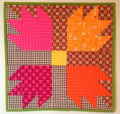 Bear Paw with fun fabrics