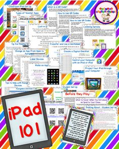 iPad101  This is the best pack to learn how to really use an iPad in the classroom.