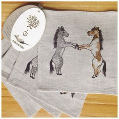 Coral & Tusk H is for Horses coasters