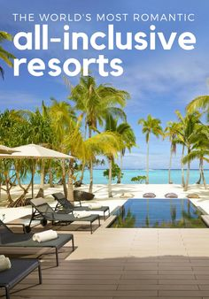 Whether you're looking for a dreamy beach retreat or once-in-a-lifetime safari camp, these 11 romantic all-inclusive resorts offer passion aplenty. Honeymoon Vacations, Honeymoon Destinations, Dream Vacations, Vacation Spots, Honeymoon Ideas, Romantic Destinations, Romantic Vacations, Romantic Travel, All Inclusive Resorts