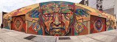 Guache for Fiesta de Colores in Porto Viejo, Ecuador, 2018 Reverse Graffiti, Urban Painting, Street Mural, Street Gallery, Sidewalk Art, Best Street Art, Guache, Visionary Art, Mural Art