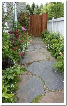 flagstone path http://fishtailcottage.blogspot.com/2013/06/this-week-in-garden-61213.html