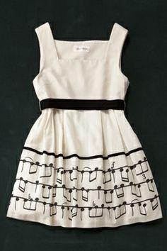 Royal Marple -  Musical Note Mini Dress