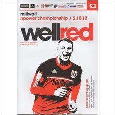 2012/2013 - Bristol City FC v Millwall FC, Football Programme