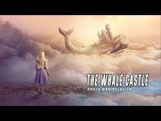 Photoshop Manipulation Tutorial Fantasy - The Whale Castle - YouTube