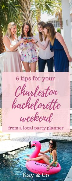 Need some bachelorette party ideas for your Charleston, South Carolina weekend? Look no further - Kay & Co has you covered! Find destination bachelorette party inspiration, Charleston weekend tips, things to do in Charleston, where to eat in Charleston, and other bachelorette, bridesmaid, and wedding ideas on our blog. Click to learn more!