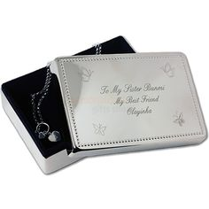 Engraved Jewellery Box from Personalised Gifts Shop - ONLY Engraved Jewelry Box, Engraved Gifts, Personalized Jewelry, Personalised Gifts, Mother Of The Groom Gifts, Great Mothers Day Gifts, Valentine Day Gifts, Beautiful Gifts For Her, Communion Gifts