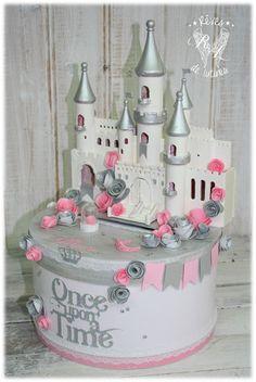 """***RAJOUT DE COMMANDE *** Urne personnalisée thème """"Château de princesse""""…"""