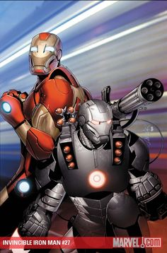 Iron Man and War Machine by Salvador Larroca