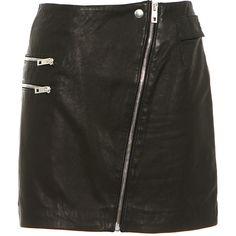 Rag & Bone black leather mini skirt found on Polyvore