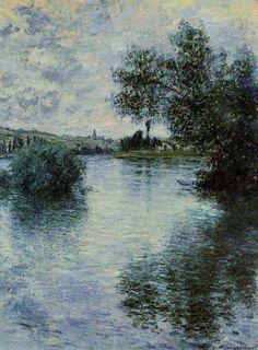 La Seine à Vétheuil, Monet…